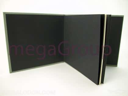 Black inside wrap solid black kraft custom sized book
