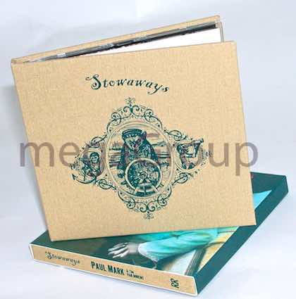 Linen Wrap CD Book 1C Printing and 4C slipcase