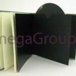 Custom Book Linen Wrap Swinging Sleeve and Glued on Sleeve Solid Black