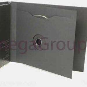 Swinging Sleeve for Disc, black matte unprinted center hole, top notch