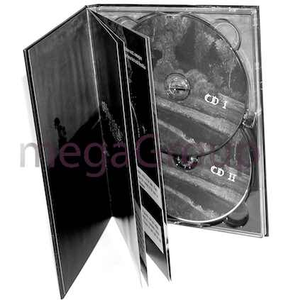 Double disc tray in DVD Book
