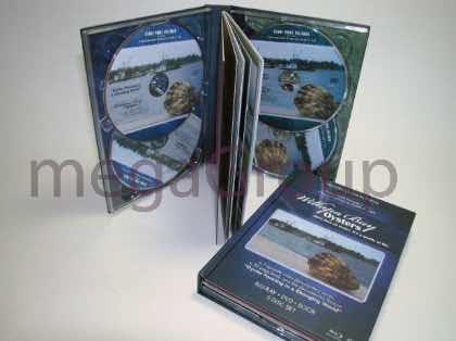 DVD Book Multidisc Set 4 disc clear double disc trays