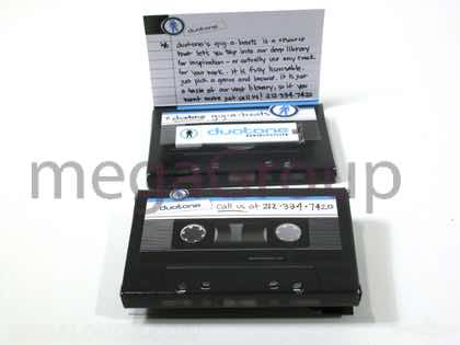 Custom USB packaging foam well like cassette Dolby title