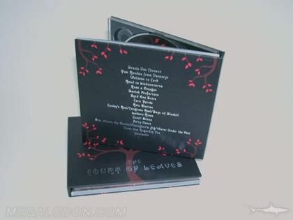 CD Book Packaging Back Side Red Foil